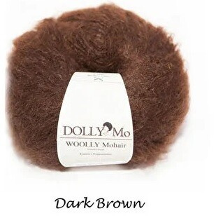 NEW! Dolly Mo Woolly Mohair DARK BROWN