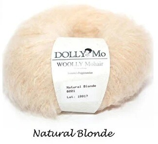 NEW! Dolly Mo Woolly Mohair NATURAL BLONDE