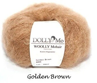 NEW! Dolly Mo Woolly Mohair CARAMEL