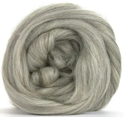 Undyed NZ Corriedale Wool Roving -- Gray