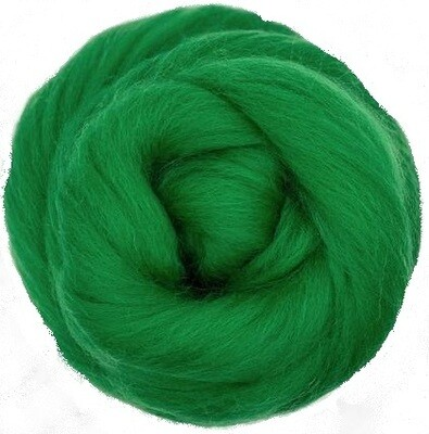 NZ Corriedale Wool Roving --  Kelly