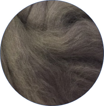 NZ Corriedale Wool Roving -- Storm Front
