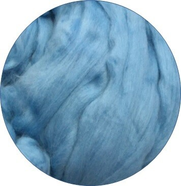 Fine Merino Wool Roving -- Aqua