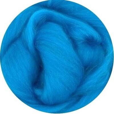 NZ Corriedale Wool Roving -- Azure