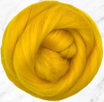 NZ Corriedale Wool Roving --  Buttercup