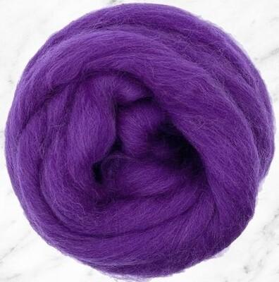 NZ Corriedale Wool Roving -- Violet