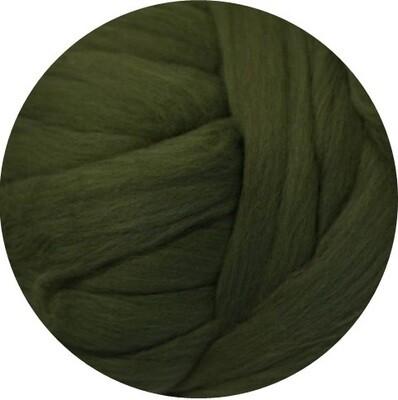 Fine Merino Wool Roving -- NEW! Bottle Green