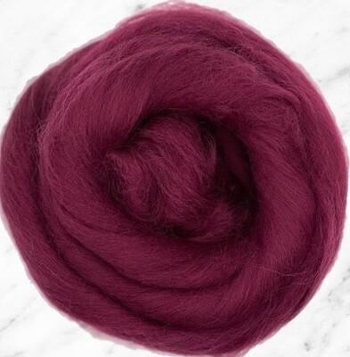 NZ Corriedale Wool Roving --  Boysenberry