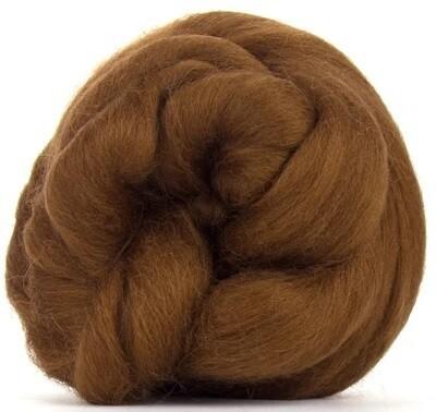 NZ Corriedale Wool Roving --  Brown