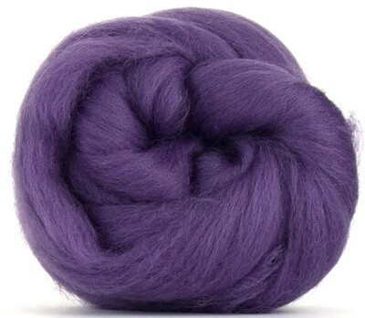NZ Corriedale Wool Roving --  Plum