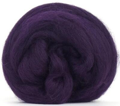 NZ Corriedale Wool Roving --  Aubergine