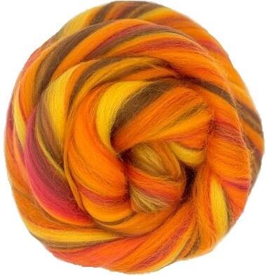 Fine Merino Wool Roving -- Autumn