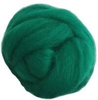 NZ Corriedale Wool Roving --  Green