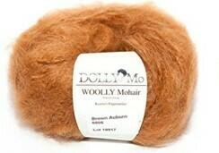 NEW! Dolly Mo Woolly Mohair BROWN AUBURN