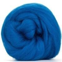 NZ Corriedale Wool Roving -- Blue Green