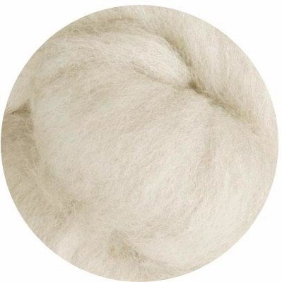 Undyed Corriedale Wool Roving -- Natural Off-White