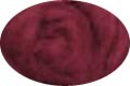 HomeSpun Carded Wool Roving -- Maroon