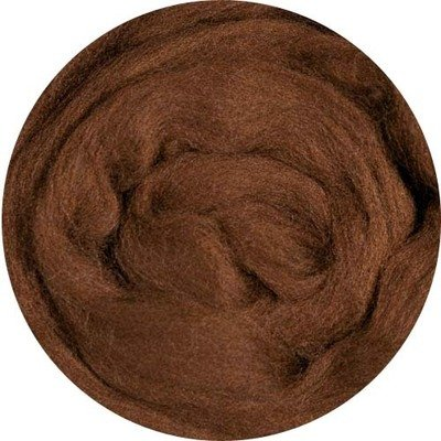 Fine Merino Wool Roving -- Brown