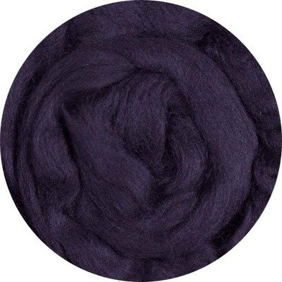Fine Merino Wool Roving -- Navy
