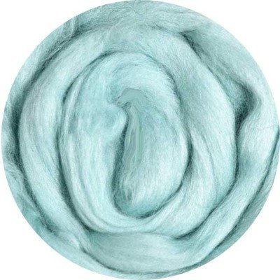 Fine Merino Wool Roving -- Pale Blue