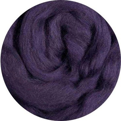 Fine Merino Wool Roving -- Plum