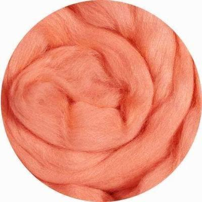 Fine Merino Wool Roving -- Salmon