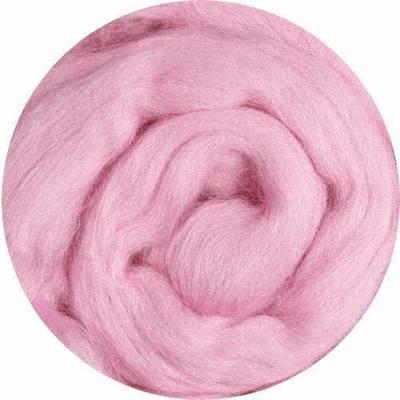 Fine Merino Wool Roving -- Pink