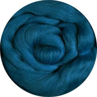 Fine Merino Wool Roving -- Teal