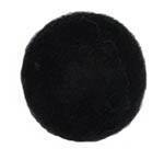 25-30mm Felt Bead -- 31. Black