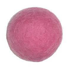25-30mm Felt Bead -- 17. Dark Pink