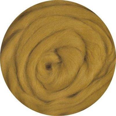 Fine Merino Wool Roving -- Mustard