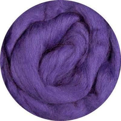 Fine Merino Wool Roving -- Violet