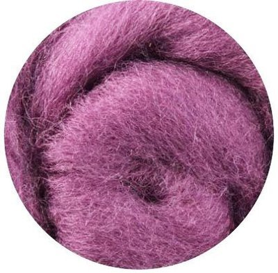 NZ Corriedale Wool Roving -- Orchid