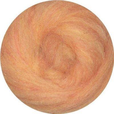 EcoSoft Wool Roving -- Peach