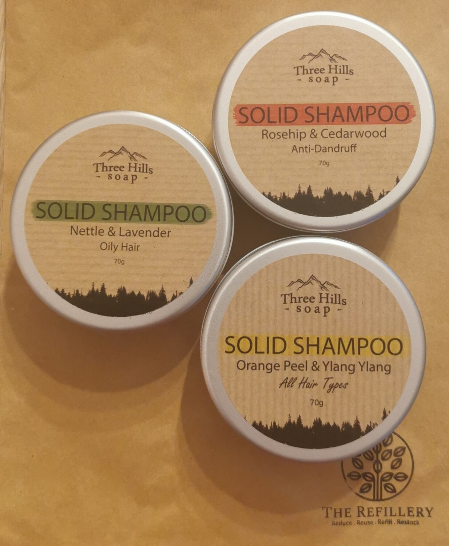 Three Hills Solid Shampoo Bar 70g