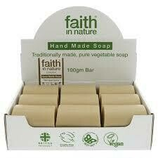 Faith in Nature unwrapped natural soap bar
