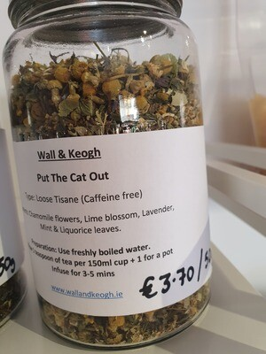 Loose Tea (Put The Cat out) Chamomile per 50g