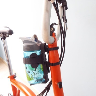 Brompton / Birdy Duo-Grips Water Bottle Cage Adapter Lightweight on Stem Head Tube (Trigo)