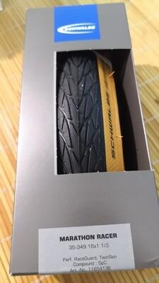 Brompton Explore Specific Foldable Tan Wall Tyre 35-349 (Schwalbe Marathon Racer)