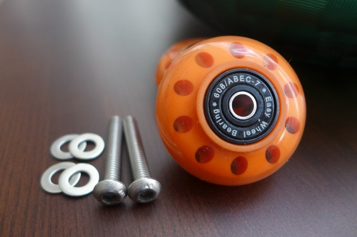 Brompton CarryMe ORI PU Colourful Easy Wheels with BEARING (Multi-S)