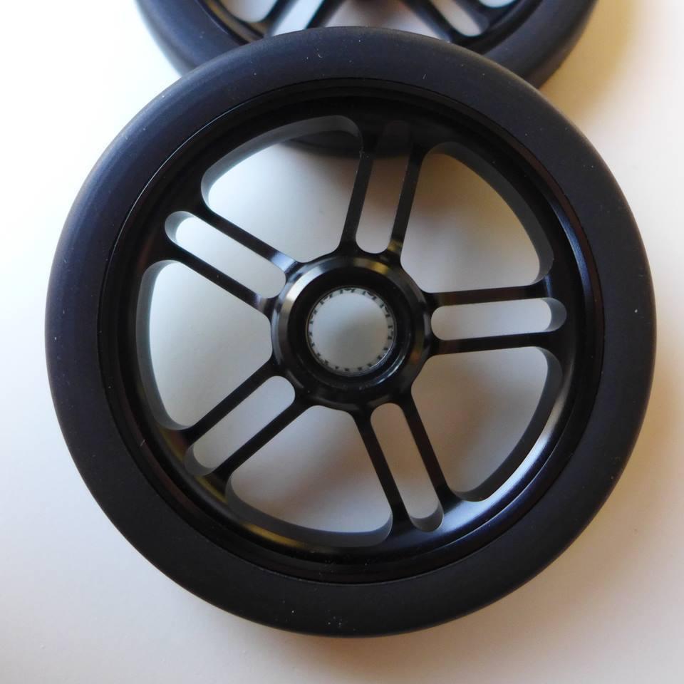 Brompton Pair Design Pattern Aluminum CNC Machined EZwheels easy wheels with Pin Bearing (MiniMODs)
