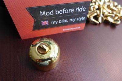 Brompton Brass Bell w FREE Brass Twist Screw / New Silver colour Released