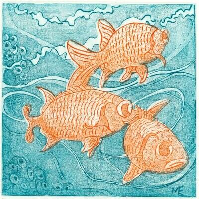 3 Fish Etching