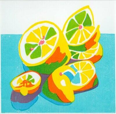 Lemons Woodcut