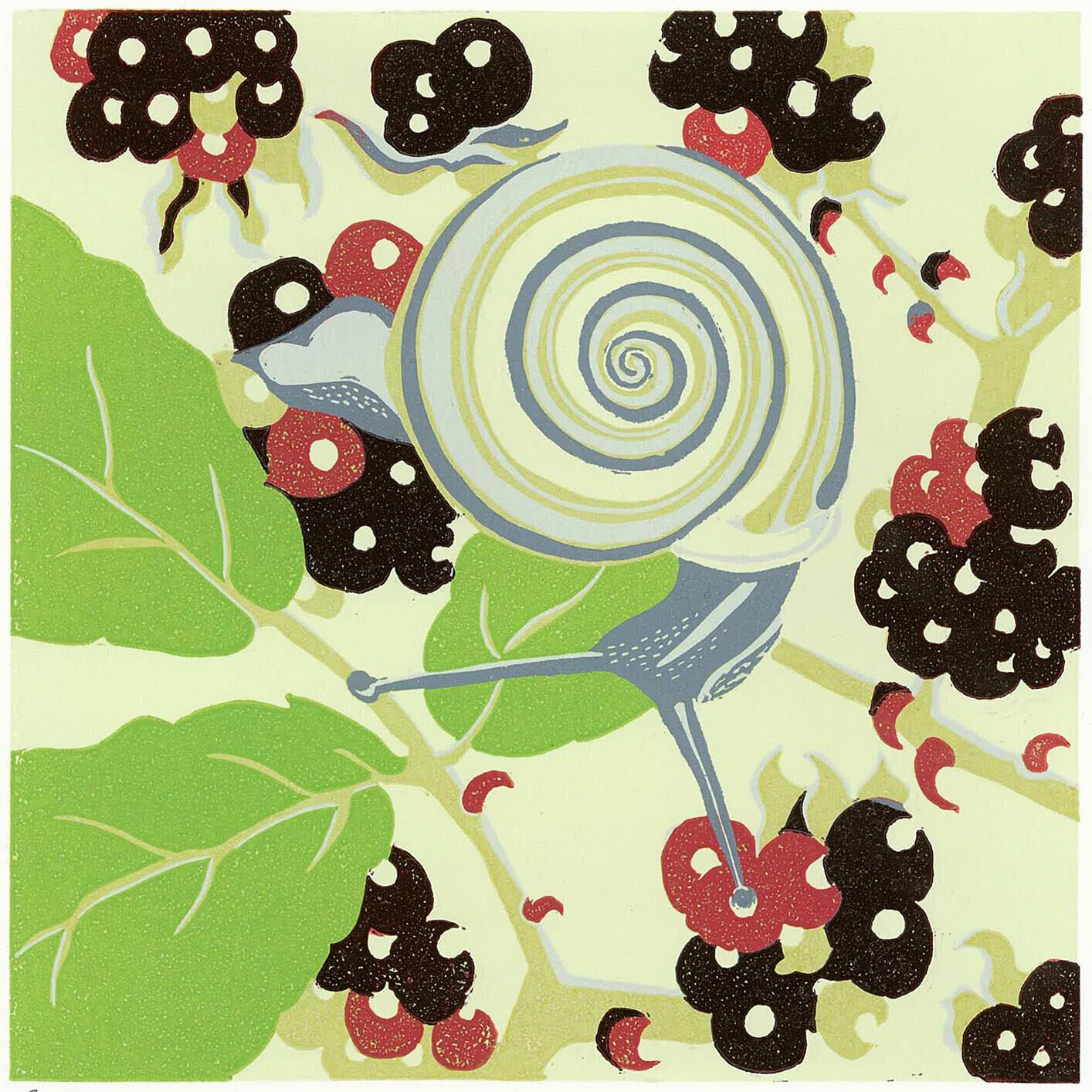 Snail Linocut
