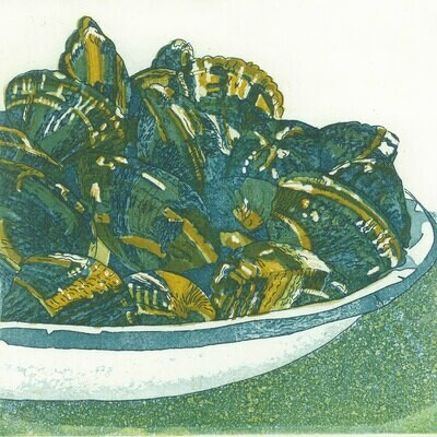 Clams Etching