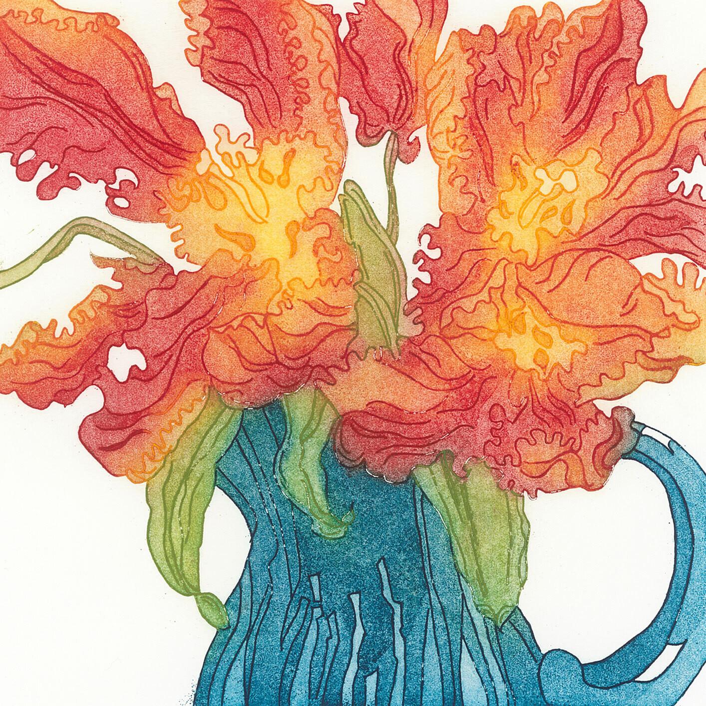 Tulips - Greetings Card