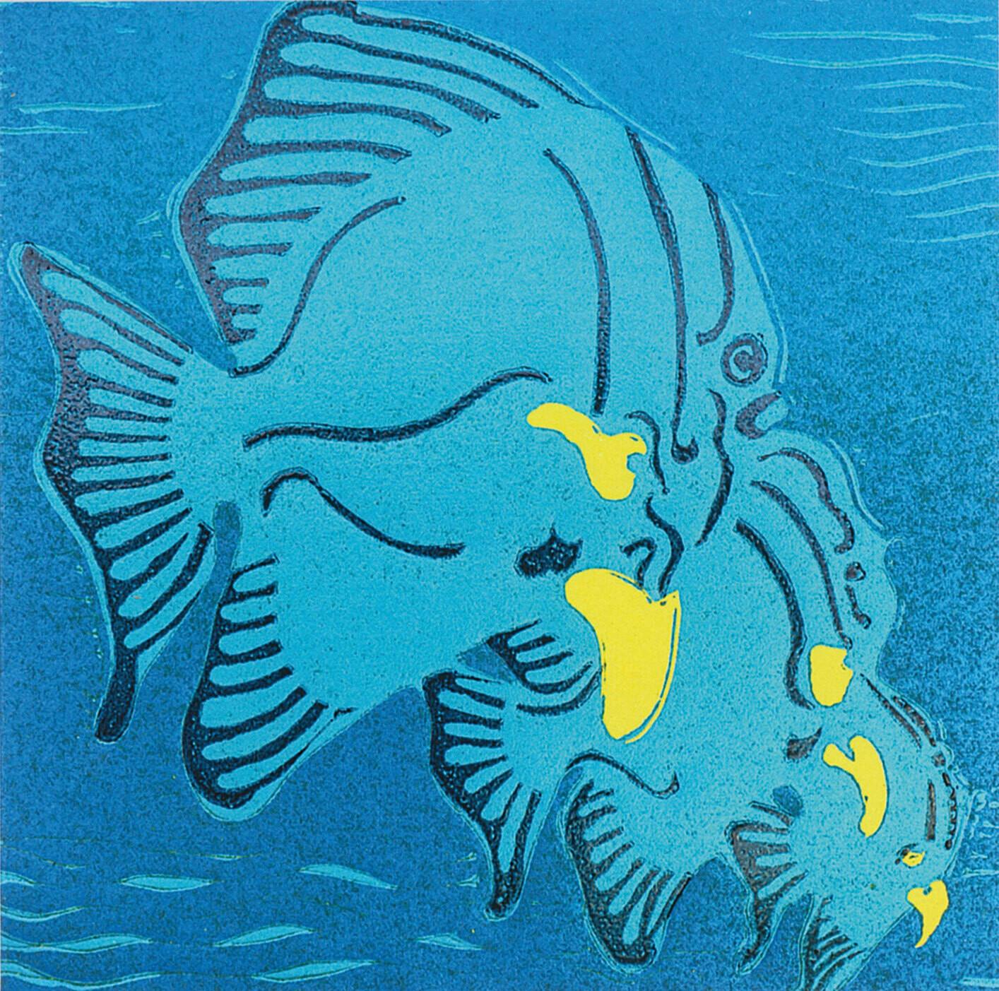 Three Fish - Greetings Card