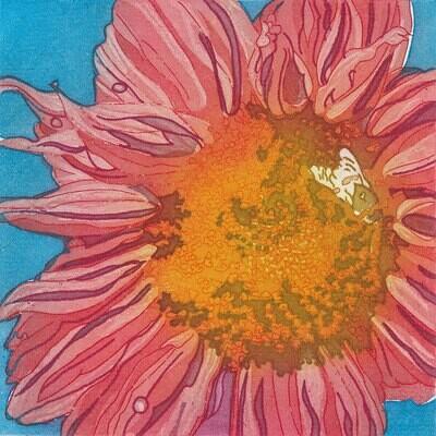 Ruby Sunflower - Greetings Card