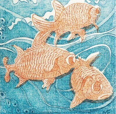 Three Squirrel Fishes - Greetings Card